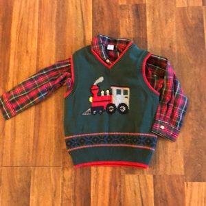 Christmas Sweater Vest Set